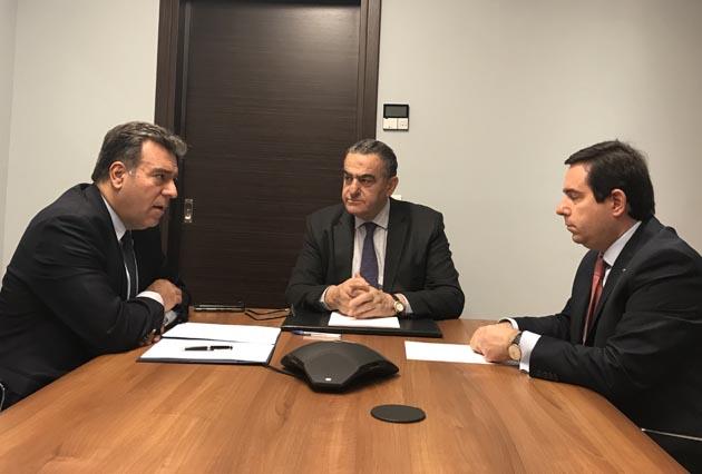 Συνάντηση Χ. Αθανασίου - Ν. Μηταράκη με τον Περιφερειακό Τομεάρχη Βορείου Αιγαίου, Μ. Κόνσολα