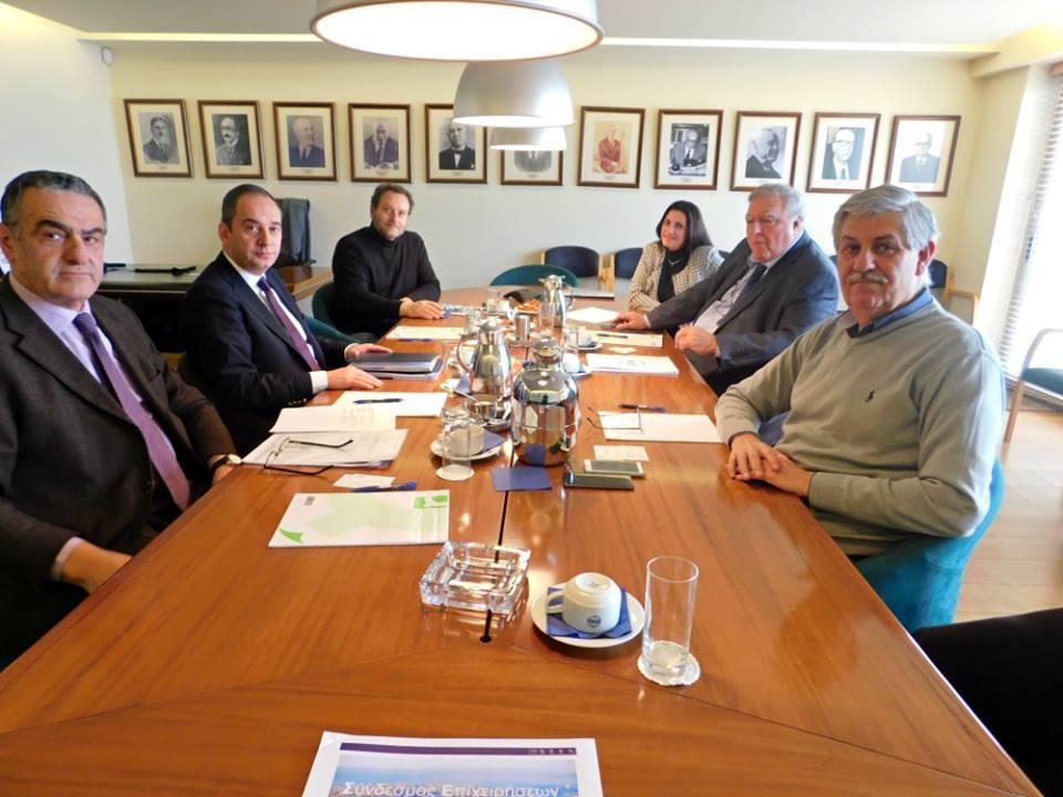 Συνάντηση με τον Πρόεδρο και τα μέλη του Συνδέσμου Επιχειρήσεων Επιβατηγού Ναυτιλίας