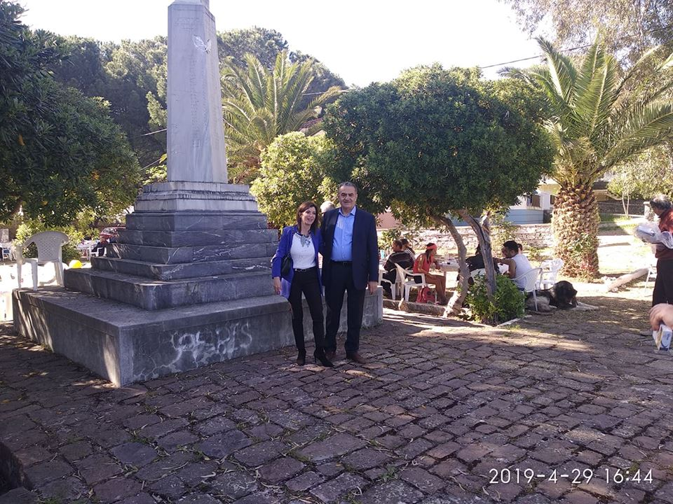 Με την Άννα Μισέλ Ασημακοπούλου στη Λέσβο