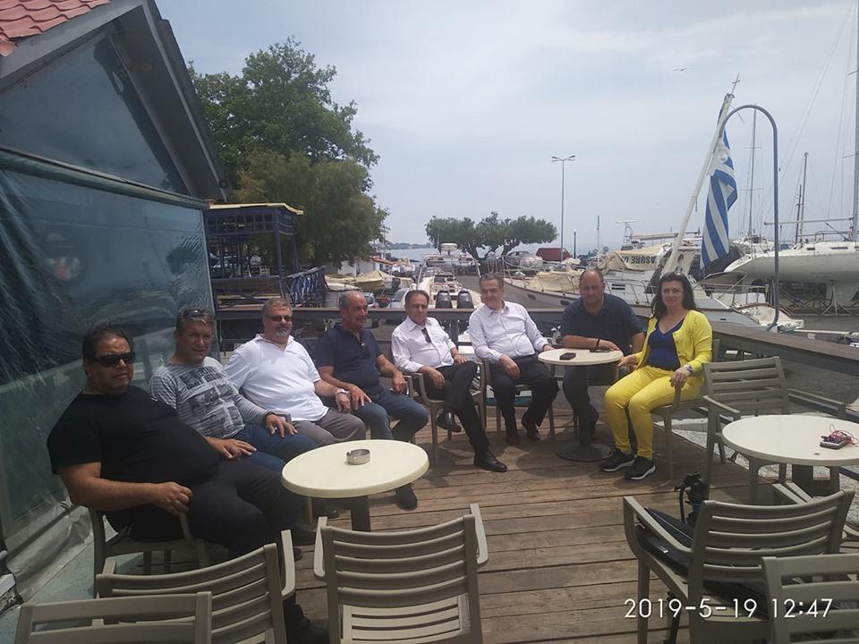 Με τον υποψήφιο Δήμαρχο Μυτιλήνης στο Πλωμάρι