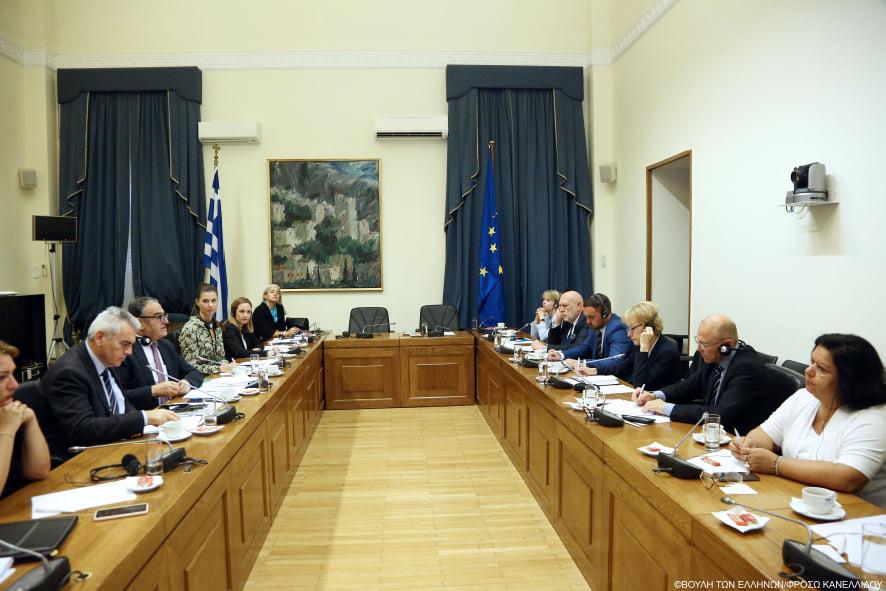 Συνάντηση Αθανασίου με αντιπροσωπεία μελών της Επιτροπής Αναφορών του Κοινοβουλίου της Τσεχικής Δημοκρατίας