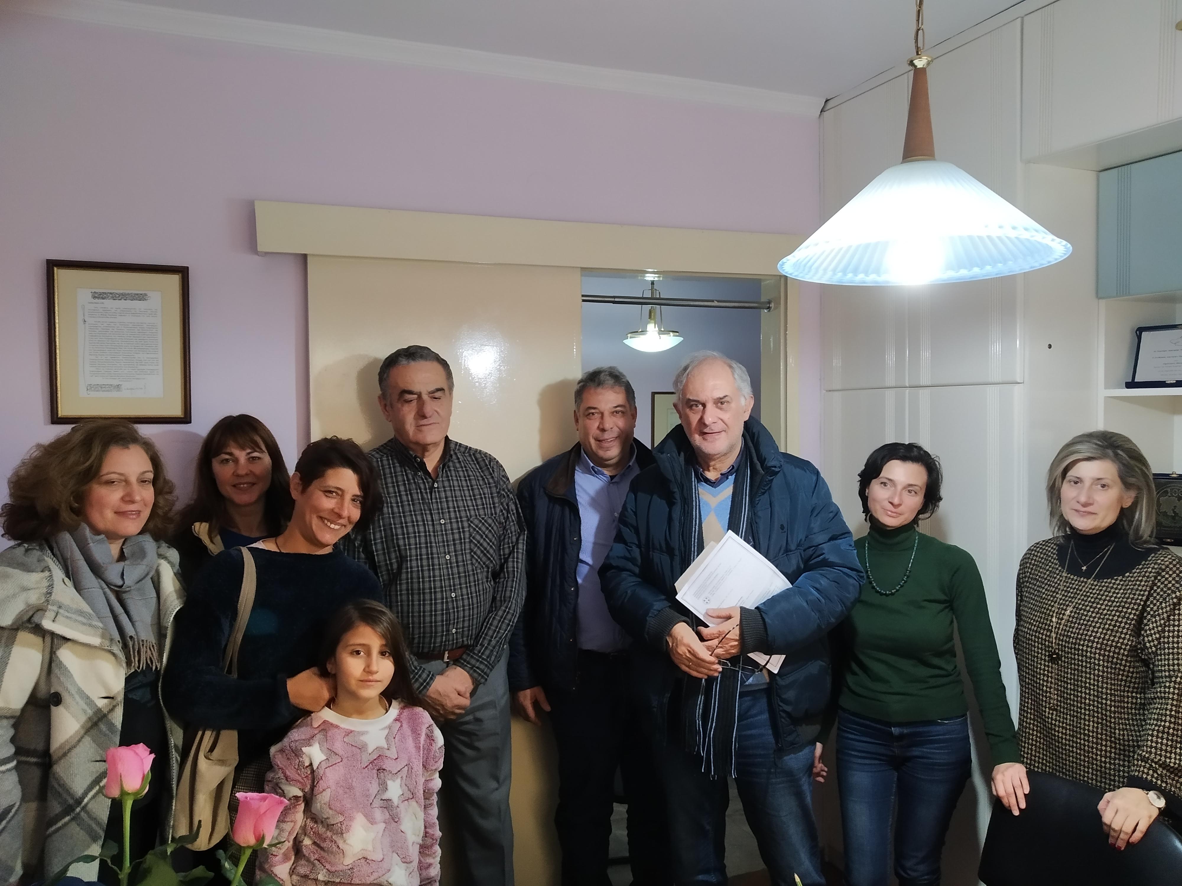 Συνάντηση Χαράλαμπου Αθανασίου με τον Διευθυντή και το Σύλλογο γονέων και κηδεμόνων του Δημοτικού σχολείου Λουτροπόλεως Θερμής.