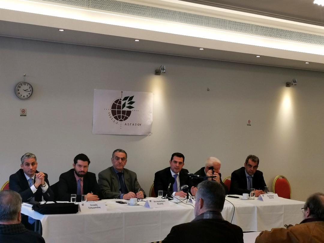 Δελτίο Τύπου με αφορμή την επίσκεψη του Υφυπουργού Αγροτικής Ανάπτυξης και Τροφίμων κ. Κώστα Σκρέκα και του Γενικού Γραμματέα Αγροτικής Πολιτικής και Διαχείρισης Κοινοτικών Πόρων κ. Κώστα Μπαγινέτα στη Μυτιλήνη