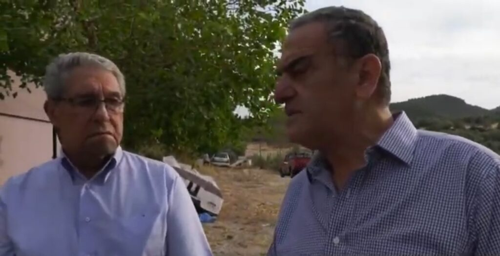 Video: Επίσκεψη στο Βουναράκι από τον Χαρ. Αθανασίου για το ζήτημα της κεραίας