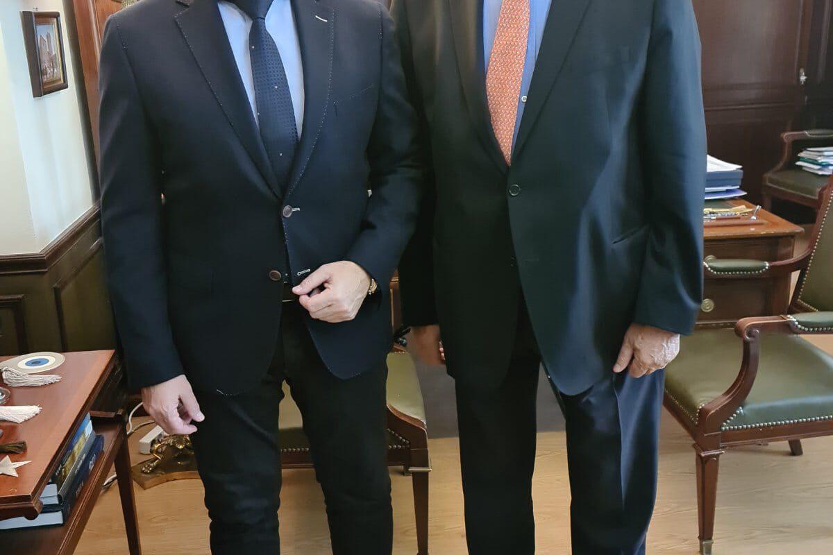 Συνάντηση του Χαράλαμπου Αθανασίου με τον Αναπληρωτή Υπουργό Εσωτερικών κ.ΣτυλιανόΠέτσα