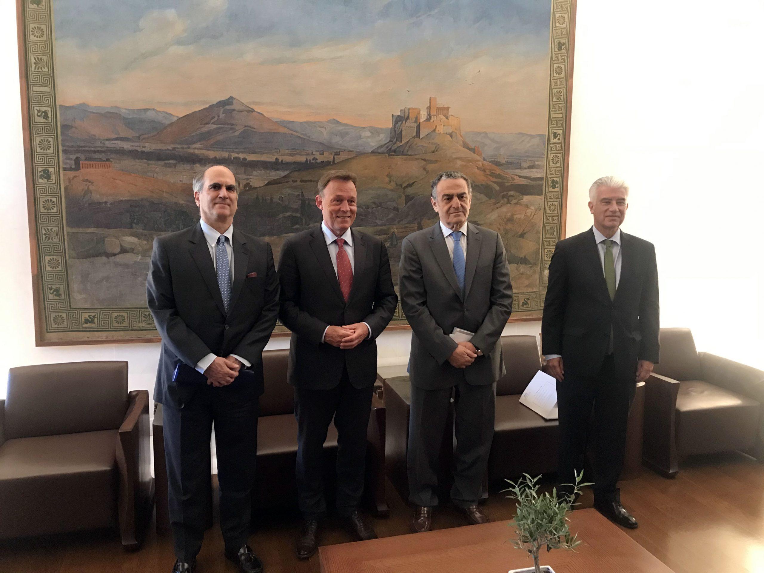 Συνάντηση του Αντιπροέδρου της Βουλής των Ελλήνων Χαράλαμπου Αθανασίου με τον Αντιπρόεδρο της Γερμανικής Bundestag Thomas Oppermann