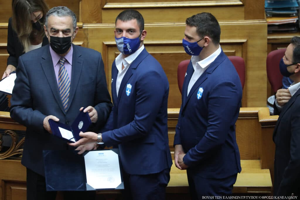 Ο Χαρ. Αθανασίου συμμετείχε στην εκδήλωση της Βουλής των Ελλήνων που τίμησε τους Ολυμπιονίκες του Τόκιο